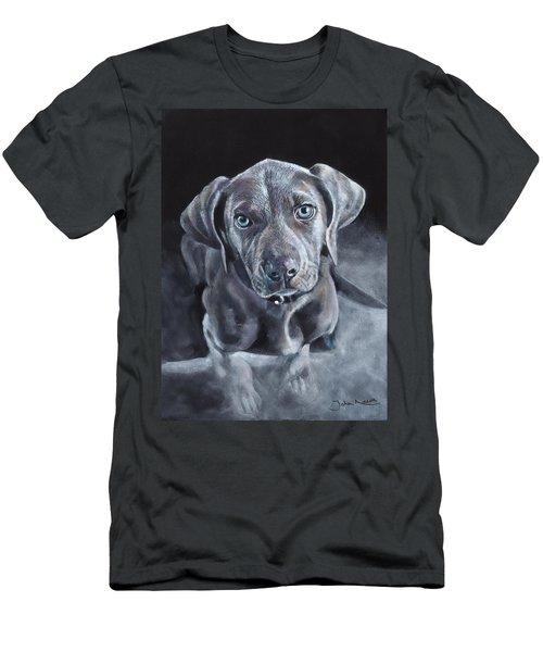 Blue Weimaraner Men's T-Shirt (Athletic Fit)