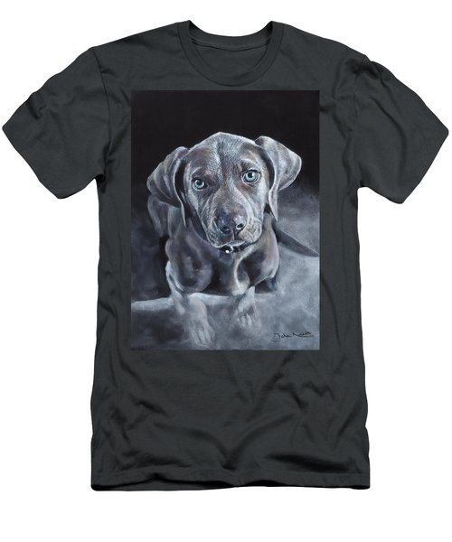 Blue Weimaraner Men's T-Shirt (Athletic Fit)
