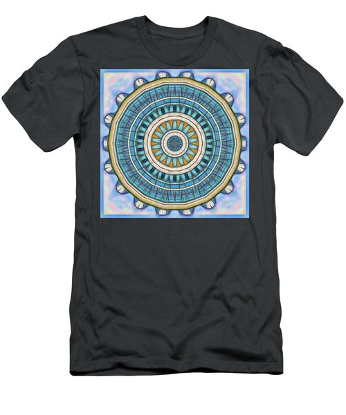 Men's T-Shirt (Slim Fit) featuring the digital art Blue Wheeler 1 by Wendy J St Christopher