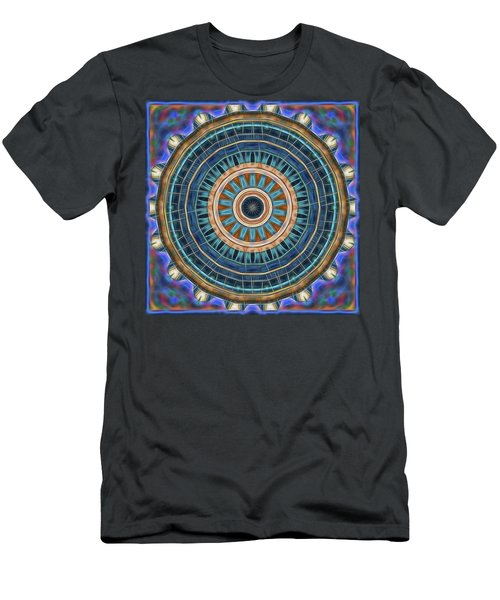 Men's T-Shirt (Slim Fit) featuring the digital art Blue Wheeler 2 by Wendy J St Christopher