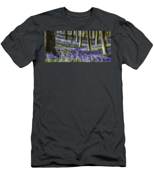 Men's T-Shirt (Slim Fit) featuring the photograph Bluebell Forest Color Explosion by Dirk Ercken