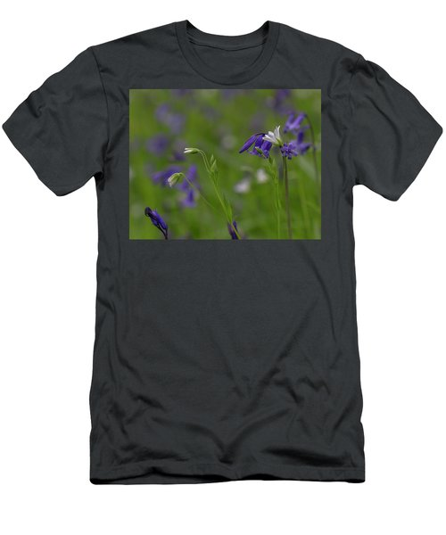 Bluebells And Stitchwort  Men's T-Shirt (Athletic Fit)