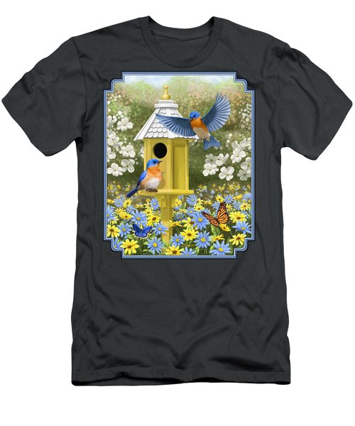 Bluebird Garden Home Men's T-Shirt (Athletic Fit)