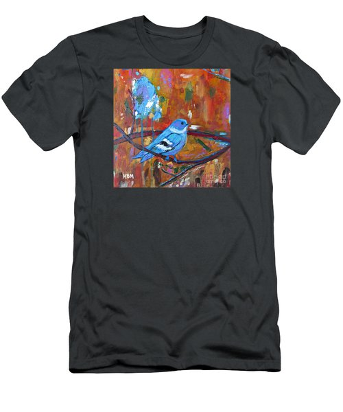 Bluebird In Autumn Men's T-Shirt (Athletic Fit)