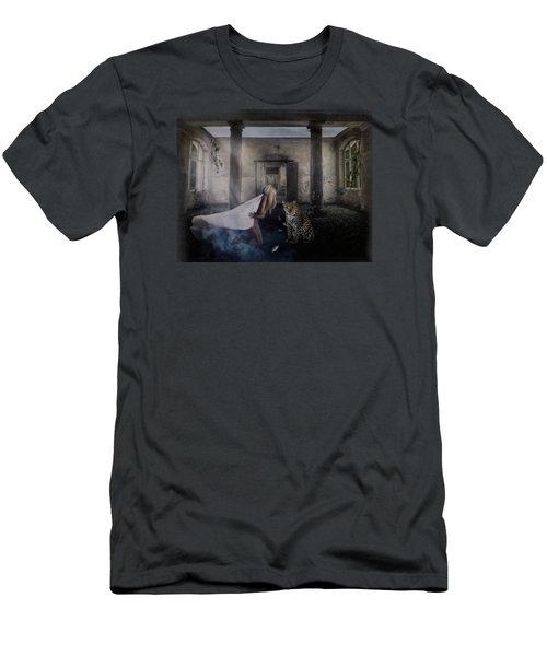 Bluebonnet Hall Men's T-Shirt (Slim Fit) by Terry Fleckney