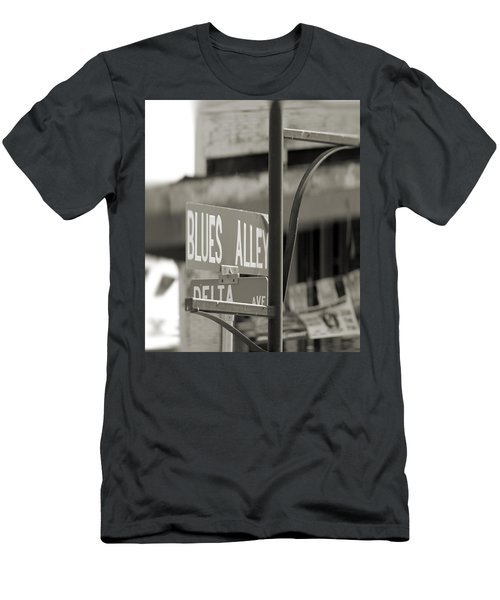 Blues Alley Street Sign Men's T-Shirt (Athletic Fit)