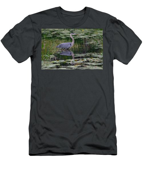 Blue's Image- Great Blue Heron Men's T-Shirt (Athletic Fit)