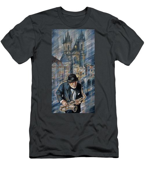 Blues Of Prague. Men's T-Shirt (Athletic Fit)