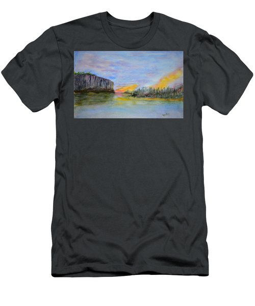 Bluffs At Sunset Men's T-Shirt (Athletic Fit)