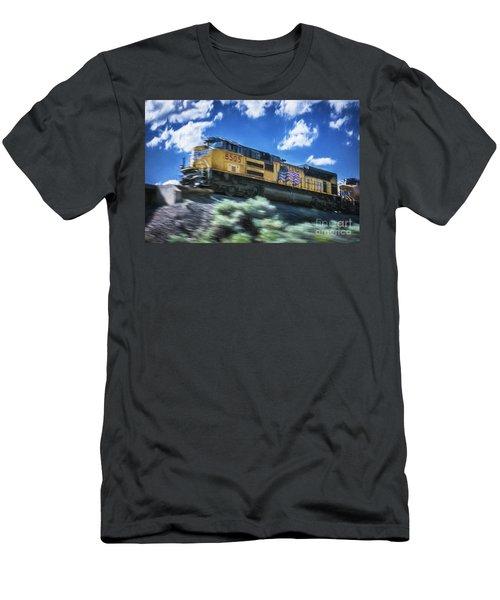 Blurred Rails Men's T-Shirt (Athletic Fit)