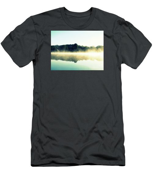 Men's T-Shirt (Slim Fit) featuring the photograph Blurry Morning by France Laliberte
