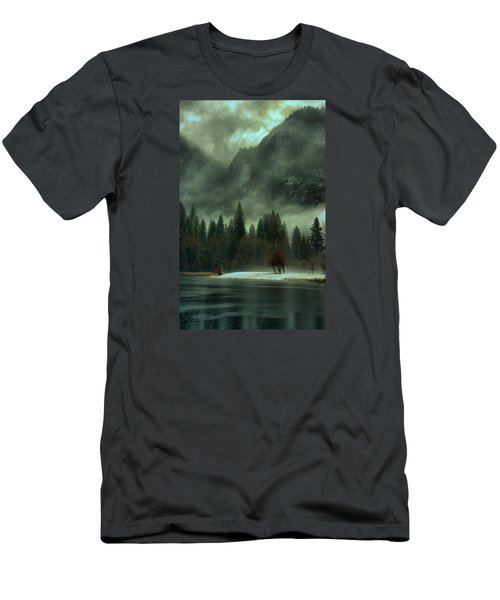 Blustery Yosemite Men's T-Shirt (Slim Fit) by Josephine Buschman