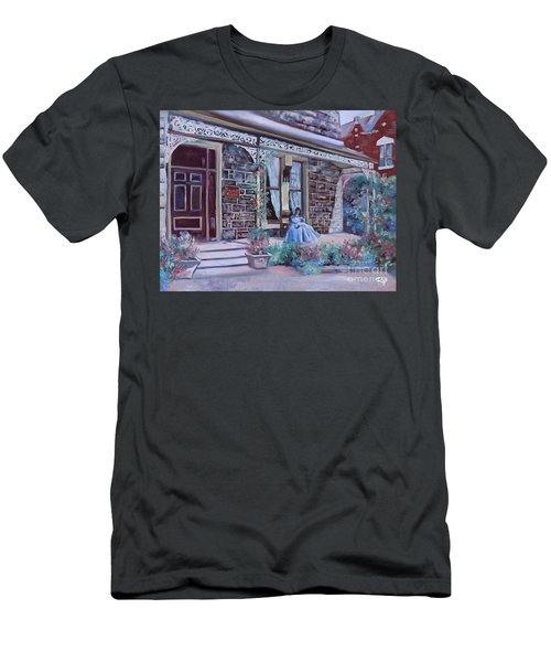 Men's T-Shirt (Athletic Fit) featuring the painting Blythewood Grange Ballarat by Ryn Shell