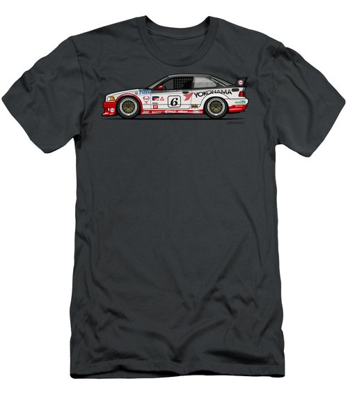 Bmw 3 Series E36 M3 Gts-2 Ptg Race Car Men's T-Shirt (Athletic Fit)