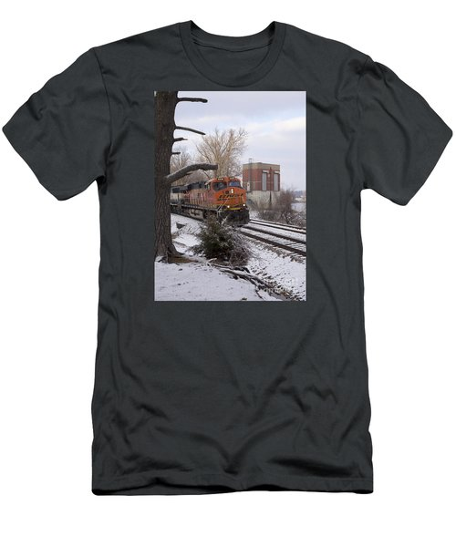 Bnsf 6338 - Train Photo Men's T-Shirt (Athletic Fit)