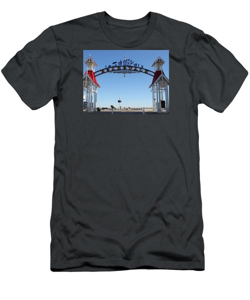 Boardwalk Arch At N Division St Men's T-Shirt (Slim Fit) by Robert Banach