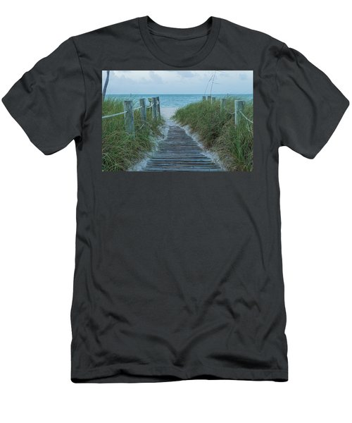 Men's T-Shirt (Athletic Fit) featuring the photograph Boardwalk To The Beach by Kim Hojnacki