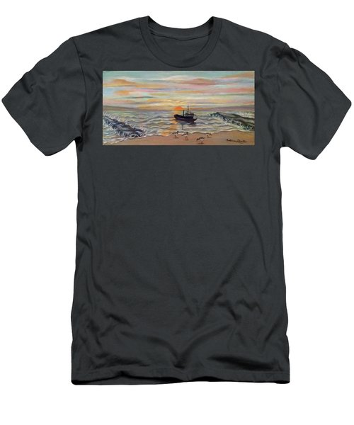 Boat At Dawn Men's T-Shirt (Slim Fit)