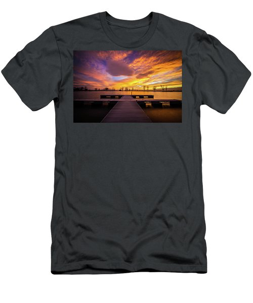 Boat Dock Sunset Men's T-Shirt (Athletic Fit)