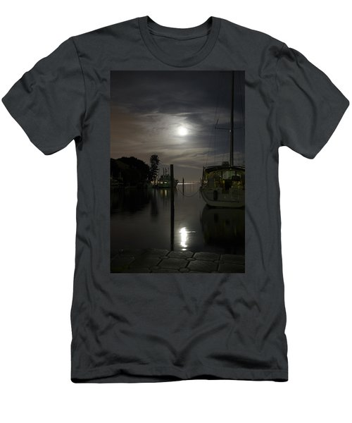Boats At Moon Rise Men's T-Shirt (Athletic Fit)