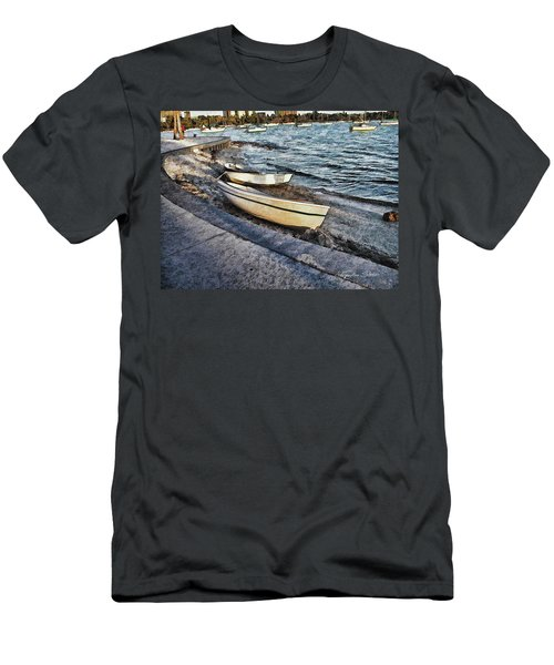 Boats At The Bay Men's T-Shirt (Athletic Fit)