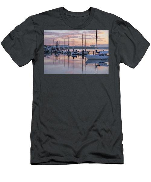 Boats In Pastel Men's T-Shirt (Slim Fit) by Suzy Piatt