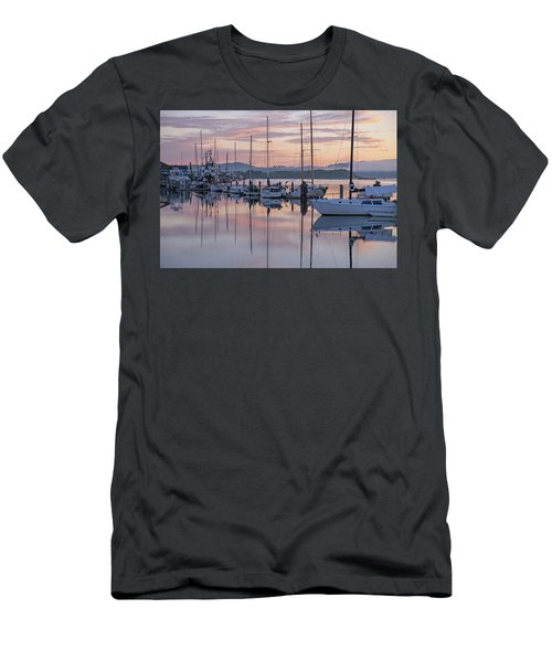 Boats In Pastel Men's T-Shirt (Athletic Fit)