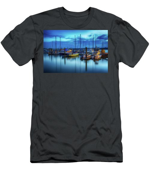 Boats In The Bay Men's T-Shirt (Athletic Fit)