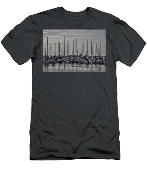 Men's T-Shirt (Athletic Fit) featuring the photograph Boats In The Izola Marina - Slovenia by Stuart Litoff