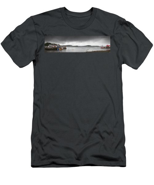 Boats Moored In The Harbor Oban Men's T-Shirt (Athletic Fit)