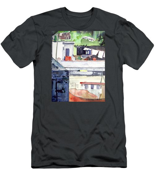 Boats On The Quay Men's T-Shirt (Athletic Fit)