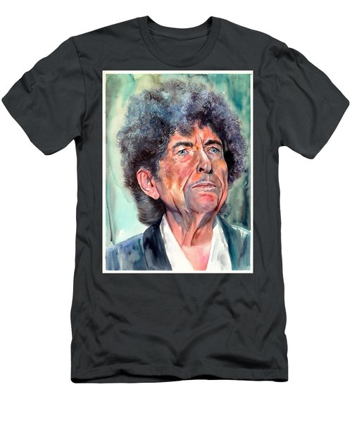 Bob Dylan Watercolor Portrait  Men's T-Shirt (Athletic Fit)