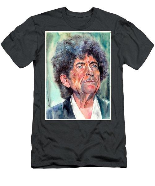 Bob Dylan Watercolor Portrait  Men's T-Shirt (Athletic Fit)