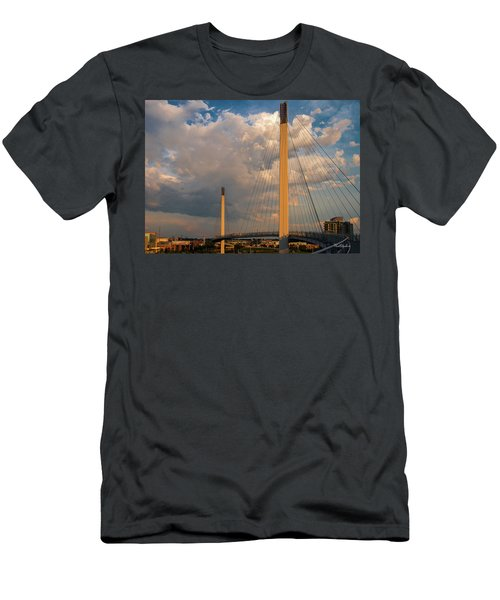 Bob Kerry Bridge At Sunrise-3 Men's T-Shirt (Athletic Fit)