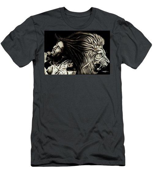 Bob Marley - Lion Heart Men's T-Shirt (Athletic Fit)