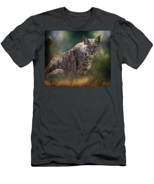 Bobcat Gaze Men's T-Shirt (Athletic Fit)