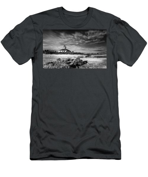 Men's T-Shirt (Slim Fit) featuring the photograph Boca Grande Florida Bw by Marvin Spates