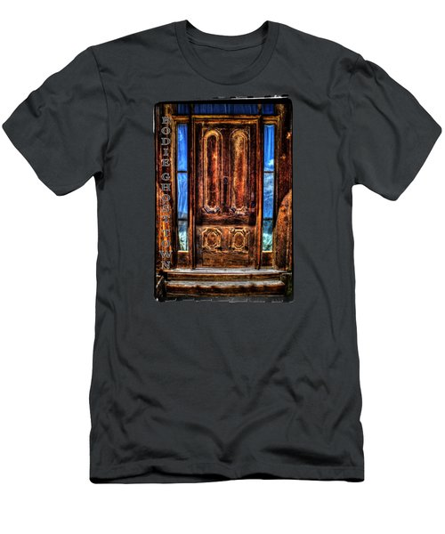 Bodie Ghost Town Front Door Detail Men's T-Shirt (Athletic Fit)