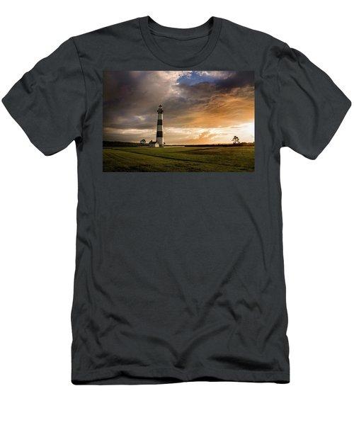 Bodie Lighthous Landscape Men's T-Shirt (Athletic Fit)