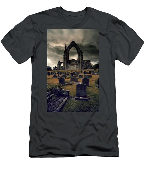 Bolton Abbey In The Stormy Weather Men's T-Shirt (Slim Fit) by Jaroslaw Blaminsky