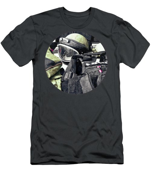 Bomb Squad Uniform Men's T-Shirt (Athletic Fit)