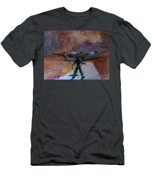 Bomber's Moon Men's T-Shirt (Athletic Fit)