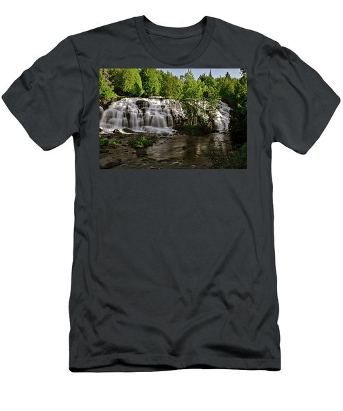 Men's T-Shirt (Slim Fit) featuring the photograph Bond Falls - Haight - Michigan 003 by George Bostian