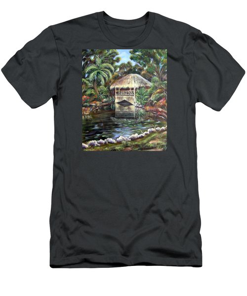 Men's T-Shirt (Slim Fit) featuring the painting Bonnet House Chickee by Patricia Piffath