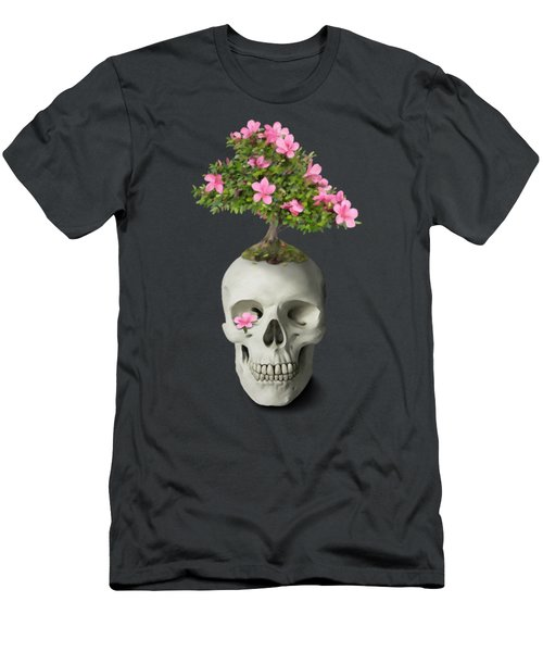 Men's T-Shirt (Athletic Fit) featuring the painting Bonsai Skull by Ivana Westin