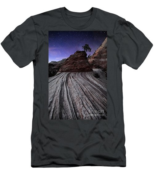 Bonzai In The Night Utah Adventure Landscape Photography By Kaylyn Franks Men's T-Shirt (Athletic Fit)