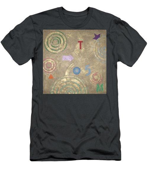 Men's T-Shirt (Slim Fit) featuring the painting Boogie 5 by Bernard Goodman