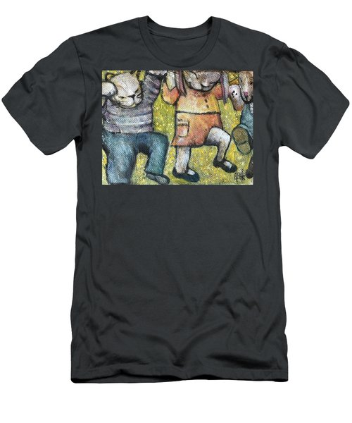 Men's T-Shirt (Slim Fit) featuring the painting Boogy Woogy by Eleatta Diver