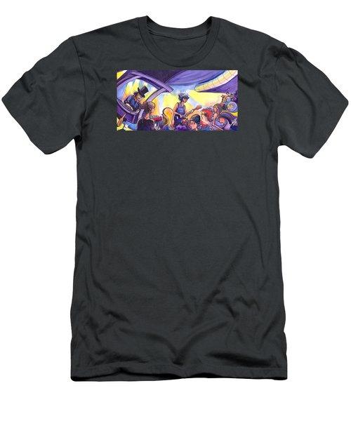 Boombox At The Barkley Men's T-Shirt (Slim Fit) by David Sockrider