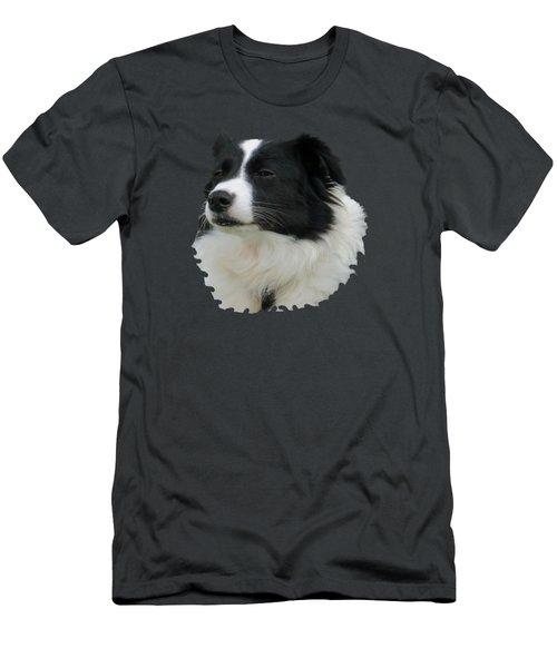 Border Collie Men's T-Shirt (Slim Fit) by Pamela Walton